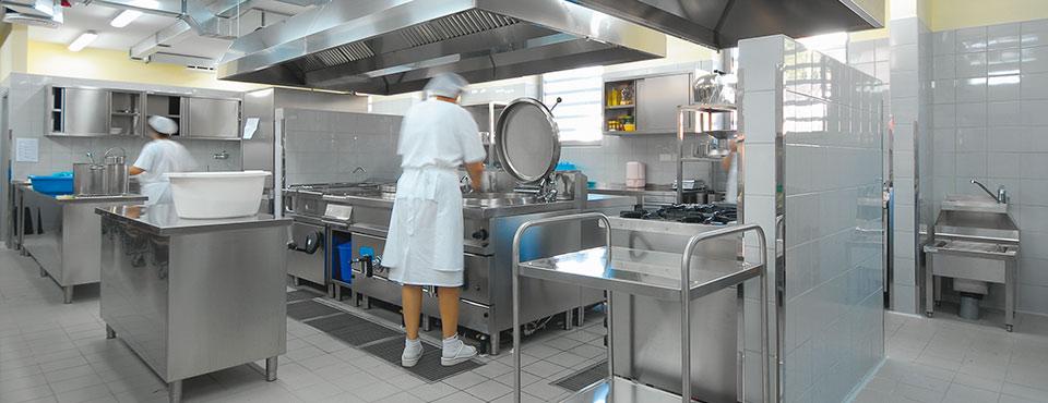 oprema kuhinj šole vrtca hotela